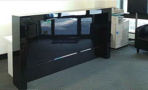 Receptionists Desk with black gloss front