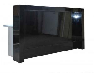 Front reception desk. Black Gloss