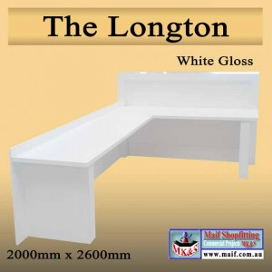 Large white counter