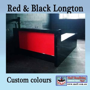 Red and black counter