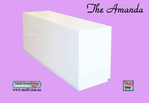 Reception counter white gloss. Sales counter