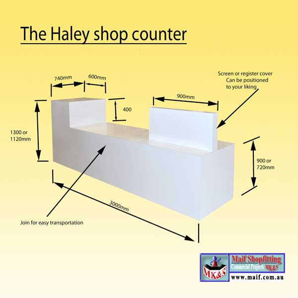 Haley Sales Desk Sales Counter