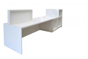 large white gloss sales desk, sales counter