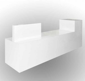 White counter for office or school