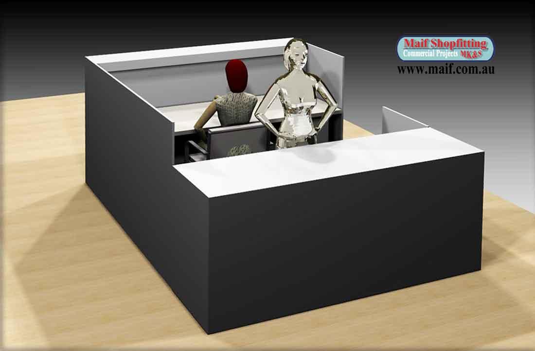 The Kion Shop Kiosk Center Desk Central Reception Desk