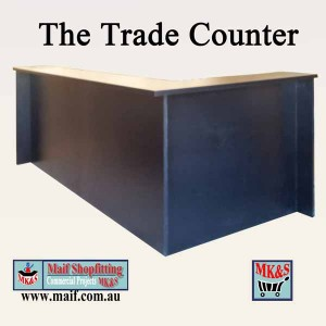 counter in black for wholesaler