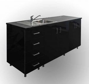 Kitchenette Black gloss