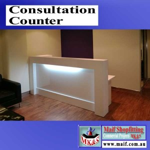 Consultation counter for waiting room