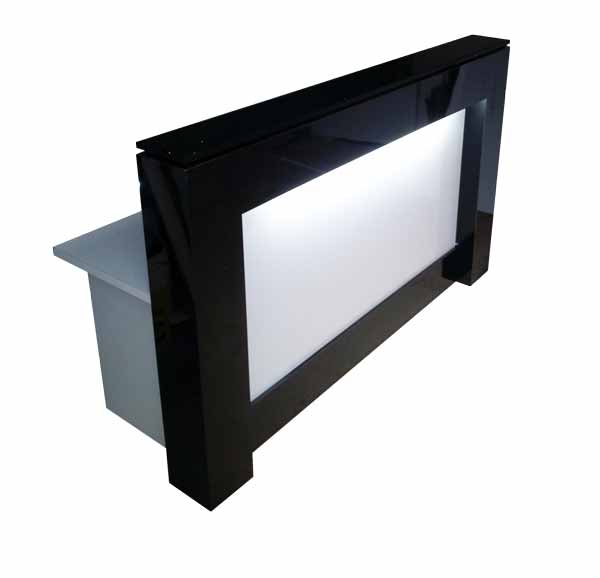 Black and White Reception Desk or Counter With Light
