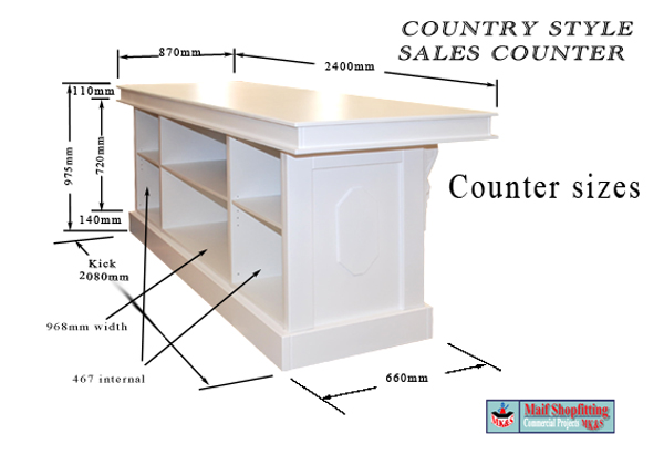 Country Style Sales Shop Reception Counter