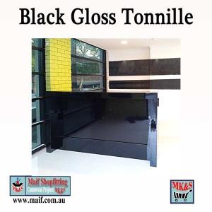 Black reception counter