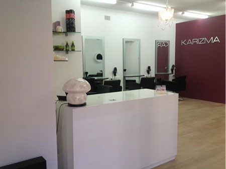 White counter for Salon