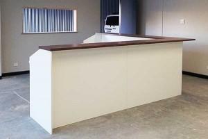 Large corner sales desk