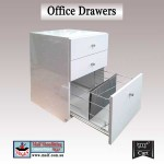 office furniture. white gloss office drawer