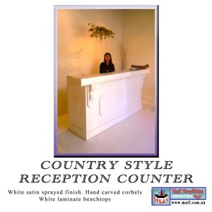 reception desk for retail store