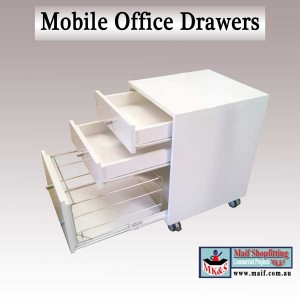 Mobile office drawes