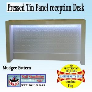 white desk with Mudgee pattern
