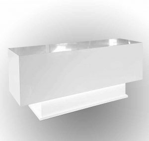 White Salon Desk with light