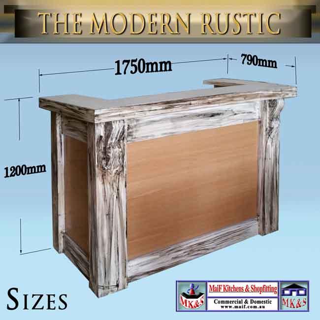 Modern Rustic Reception Desk