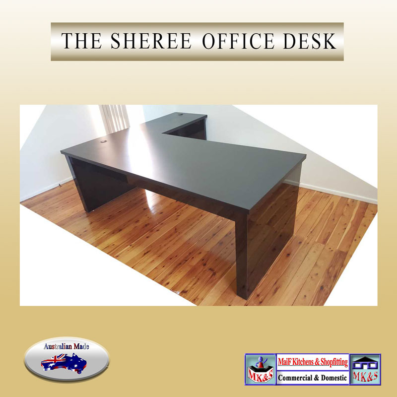 office desk with return black or white gloss sturdy