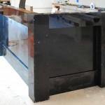 Black restraunt counter