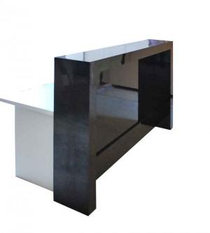 Reception counter, Modern look black gloss