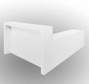 Reception counter white