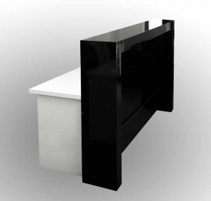 Reception counter front desk, gloss black