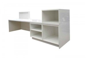 White gloss reception counter for sale