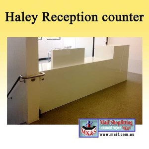 White counter foroffice or school
