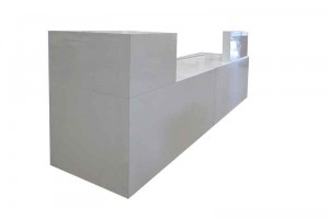 gloss white sales counter modern style