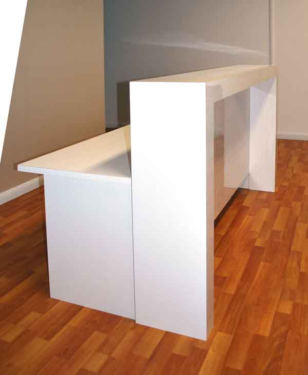 Matte Reception Counter White Or Black Gloss