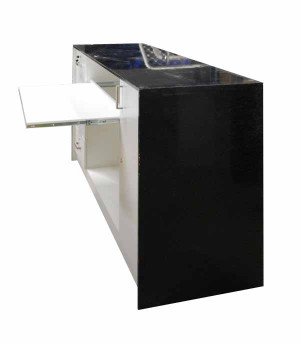 Mobile reception counter for shop, Available in black and white
