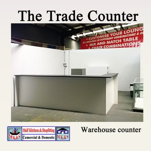 Bulky goods counter