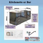 Kitchenette Black gloss