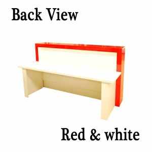 Reception desk for sale. Red and white finish