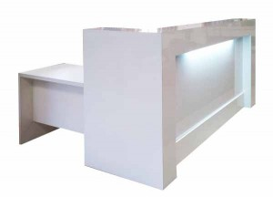 Doctors receptionist counter with light