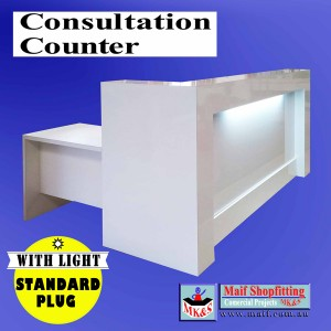 Consultation counter with light