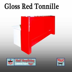 High gloss red reception desk, Reception counter