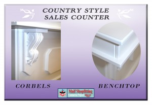 Country style retail sales desk