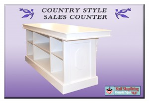 Retro style country sales counter