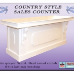 Retail counter, country style. French provincial style