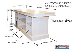 French Provincial retail counter