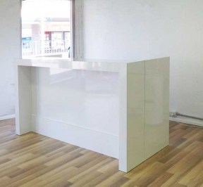 Modere hair salon reception counter