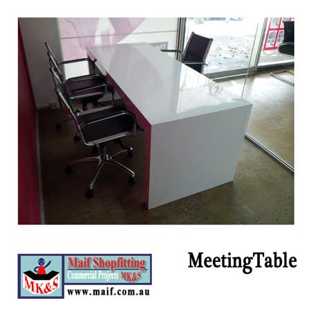 White gloss meeting room table