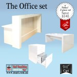 Office furniture set, white