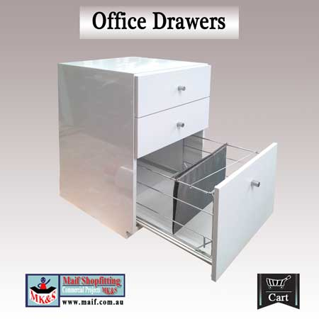 office furniture white gloss office drawer