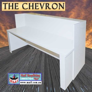 Chevron modern reception counter