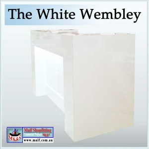 Reception desk white wembley