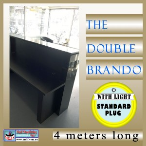 Black shiny reception desk